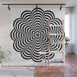 Op Art Flower Wall Mural