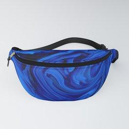 Blue Liquid Marbled texture Fanny Pack