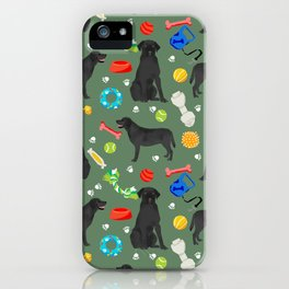Black Lab dog toys cute dog breeds black labrador retriever gifts pet friendly iPhone Case
