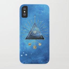 Magic Eye Blue Universe iPhone Case