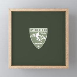 Ski Fairfield Idaho Framed Mini Art Print