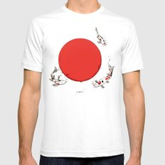 Koi and Sun LARGE White Mens Fitted Tee