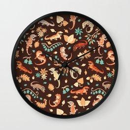 Autumn Geckos Wall Clock