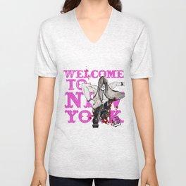 welcome to new york Unisex V-Neck