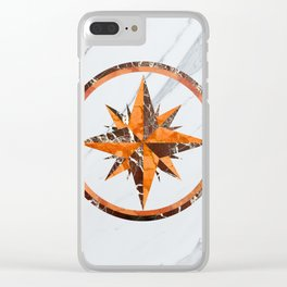 Wind rose ~ Inlaid marble Clear iPhone Case