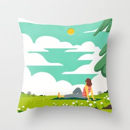 How to be Happy IV Throw Pillow