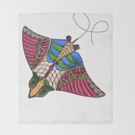 Colorful Stingray Throw Blanket