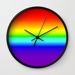 Vivid Rainbow Gradient Wall Clock