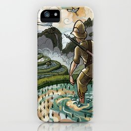 In the Rice Paddies iPhone Case
