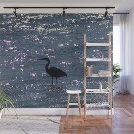 Egret Heron Silhouette Wall Mural