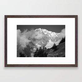 Mont Blanc, Courmayeur, Italy Framed Art Print