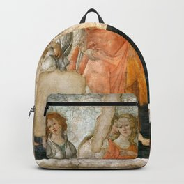 "Sandro Botticelli ""Venus and the Three Graces Presenting Gifts to a Young Woman"" Backpack"