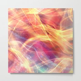 Orange Plasma Metal Print