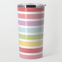 Rainbow Stripes Continued Travel Mug