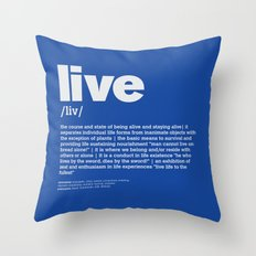 definition LLL - Live 6 Throw Pillow