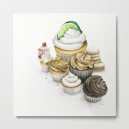 Sweet Energy Cupcakes Metal Print