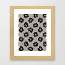 Boho Floral Daisies Allover Framed Art Print