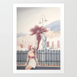 The Fountain (Right)  Art Print