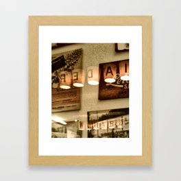 simple intermission preferably sumptuous Framed Art Print