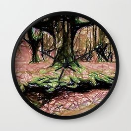 Whispers Among Trees Wall Clock