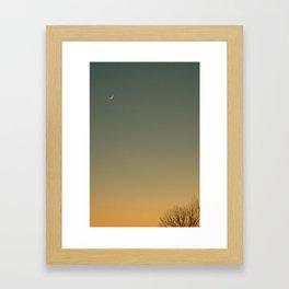 waxing dusk Framed Art Print