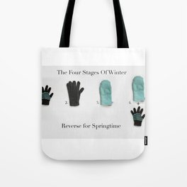 The Four Stages Of Winter Tote Bag