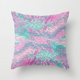 Pink and Mint Blocks - Bird View Throw Pillow