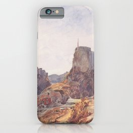 The Castle Of San Lorenzo In Ragusa 1840 by Rudolf von Alt | Reproduction iPhone Case