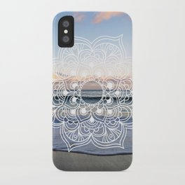 Flower shell mandala - shoreline iPhone Case