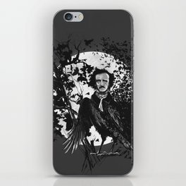 Unlikely Meeting in The Moonlight with Mr Edgar Allan Poe iPhone Skin