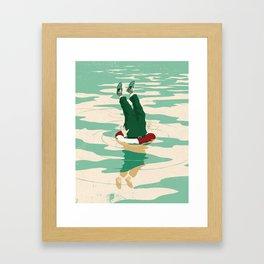 When helping goes bad Framed Art Print