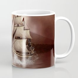 Awesome seadragon with ship Coffee Mug