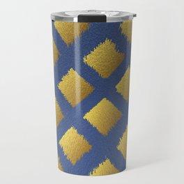 Blue and Gold Trendy Design #society6 #decor #buyart #artprint Travel Mug