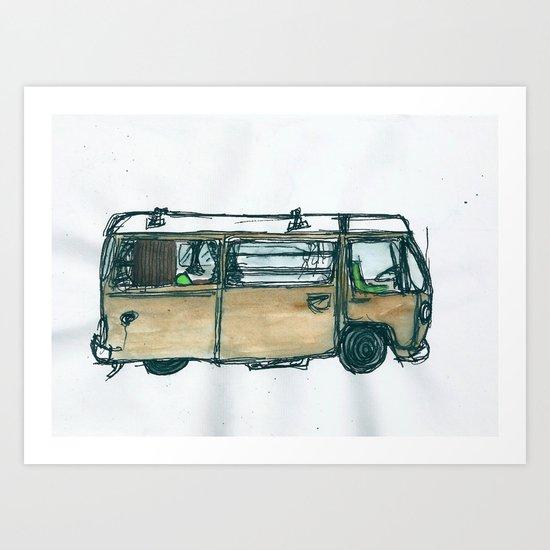 The Bus Art Print