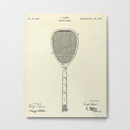 Tennis Racket-1887 Metal Print