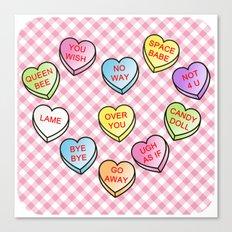 Conversation Hearts Canvas Print