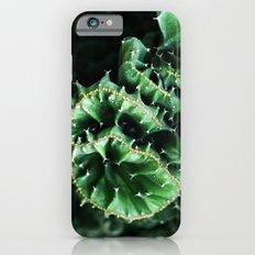 Emerald green Cactus Botanical Photography, Nature, Macro, iPhone 6s Slim Case