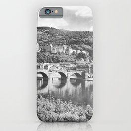 retro monochrome Heidelberg retro poster iPhone Case