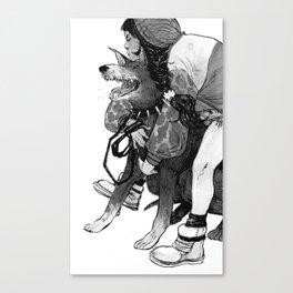 Bite Me (Doberman) Canvas Print