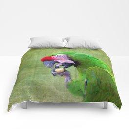 Green Macaw Comforters