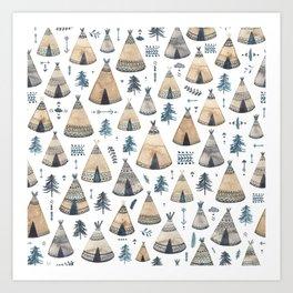 Tepees! Art Print