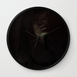 Skullflower I Wall Clock
