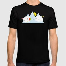 Cloud Fight Black MEDIUM Mens Fitted Tee