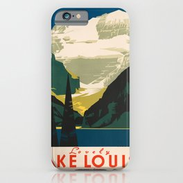 Lovely Lake Louise vintage travel ad iPhone Case