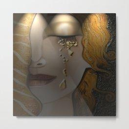 My Klimt Serie : Gold Metal Print