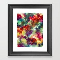 Multicolor Leaves Framed Art Print