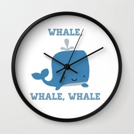 CARTOON WHALE Wall Clock