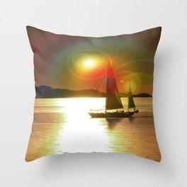Calm sea V Throw Pillow