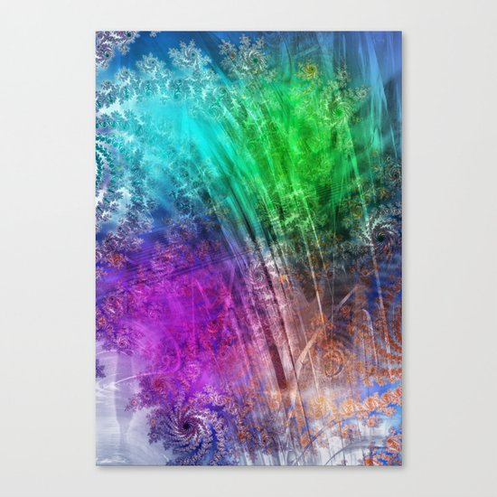 floatin through the love heaven Canvas Print