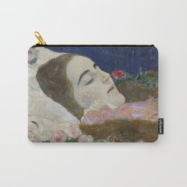 RIA ON HER DEATHBED - GUSTAV KLIMT Carry-All Pouch